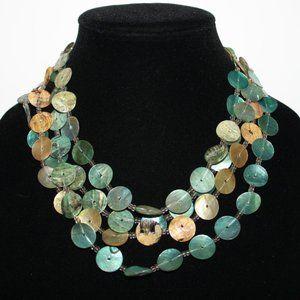 Beautiful natural shell layered necklace beachy